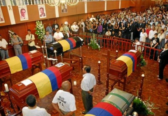La muerte de los diputados del Valle del Cauca