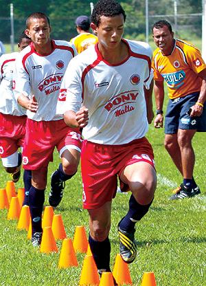 Edwind Cardona mientras estaba en Pony Fútbol. Foto: archivo Pilar Ruiz / El País de Cali