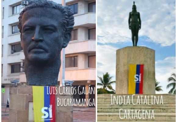 Polémica toma de 'Sí a la Paz' a monumentos nacionales