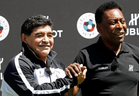 Maradona y Pelé firman la paz