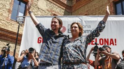 Con Ada Colau, alcaldesa de Barcelona