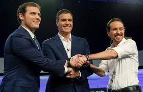 Albert Rivera de Ciudadanos, Pedro Sánchez del PSOE, y Pablo Iglesias de Podemos: adiós al bipartidismo
