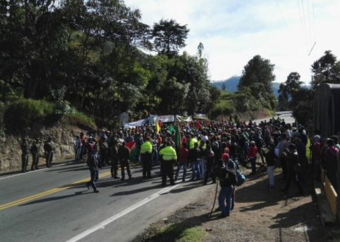 La vía Panamericana: un arma de lucha en la Minga Nacional