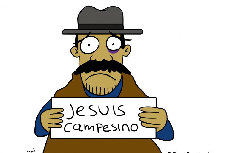 Caricatura: apoyando siempre al campesino