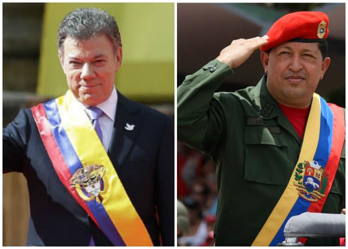 Quién lo creyera: Santos igualitico a Chávez