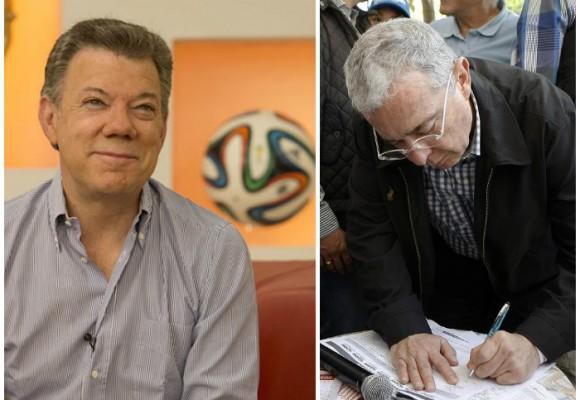 La campaña por la paz de Santos en la TV y la resistencia civil de Uribe en la calle