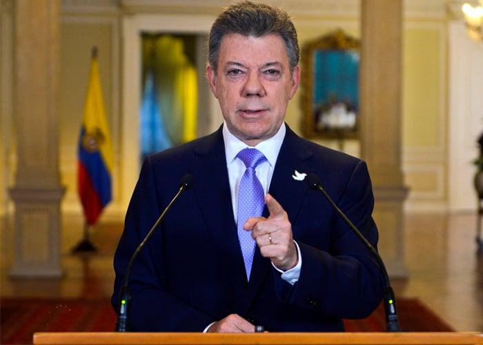 """COLOMBIA: """"Hoy espero darle una noticia histórica y muy importante al país"""": Santos"""