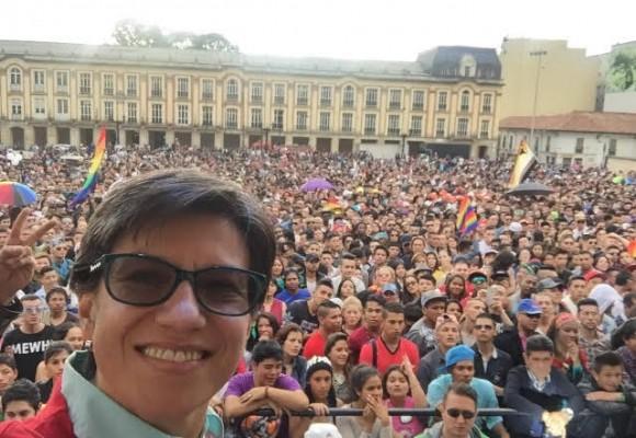 La celebración del Orgullo Gay de Claudia López