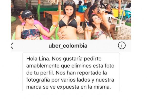 La foto que le molestó a Uber Colombia en Instagram