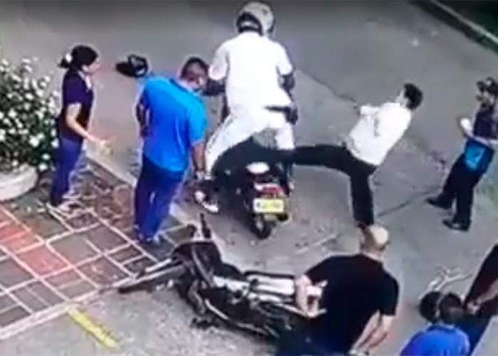 En video: el atraco que le salió caro a un ladrón en Cali