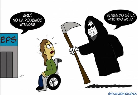 Caricatura: más pacientes para el Dr. Muerte