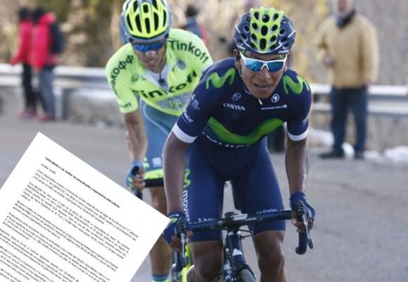 Carta abierta a los medios de comunicación y espectadores del ciclismo