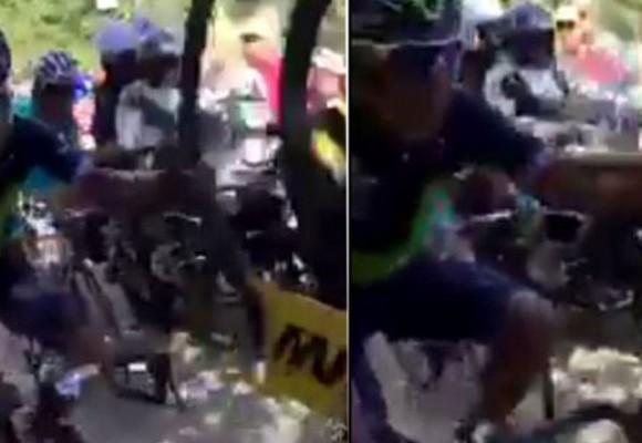 Video: Nairo hizo trampa y lo podrían expulsar del Tour