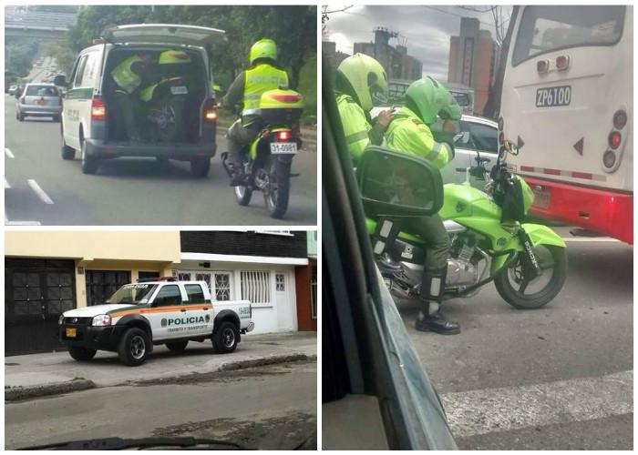 10 fotos que muestran lo atarbanes que son algunos Policías manejando