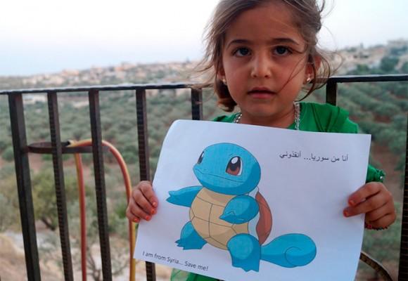 Niños sirios piden a jugadores de 'Pókemon Go' que los salven de la guerra