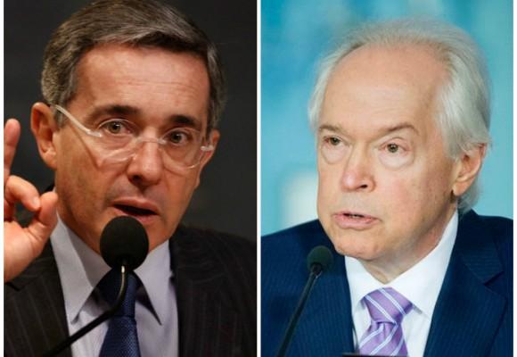 Uribe a la carga desde España contra el enviado de Obama para la paz