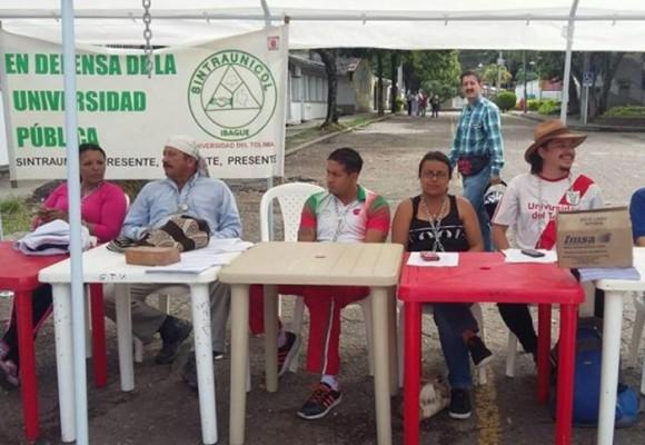 Huelga de hambre triestamentaria en la Universidad del Tolima