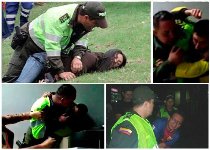 5 golpizas de la Policía colombiana a periodistas