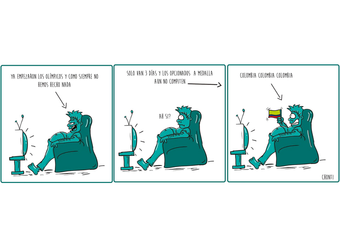 Caricatura: el hincha colombiano promedio