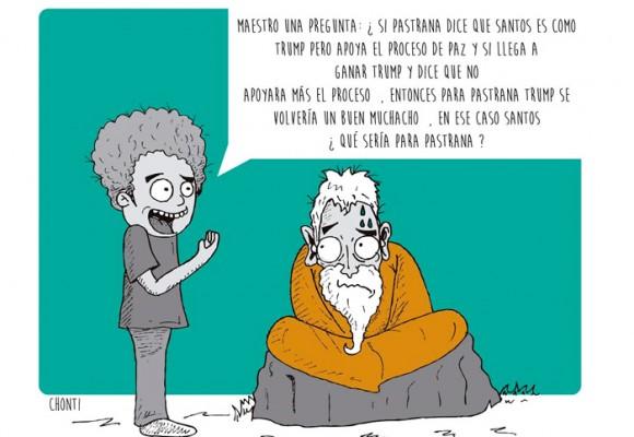 Caricatura: Pastrana y la política colombiana