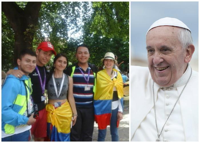 La travesía de 500 colombianos para encontrarse con el Papa Francisco en Polonia