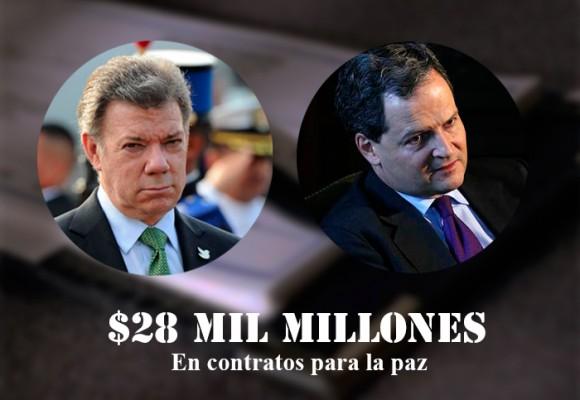 Se mueve la chequera de Santos y Jaramillo con la paz