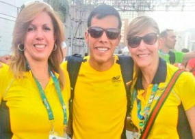 Madrina y ahijada política juntas en los Olímpicos