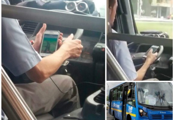 En video: Conductor del SITP en Bogotá maneja jugando Pokémon Go