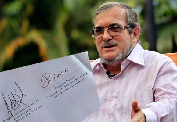 El jefe de las Farc seguirá su vida política con su alias: Timoleón Jiménez
