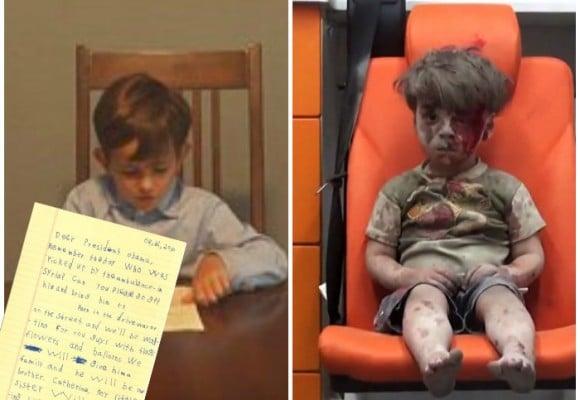 Alex, el niño que le suplicó a Obama salvar al bebé Sirio