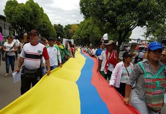 En manifestaciones simultáneas el Caquetá le dijo NO a las petroleras