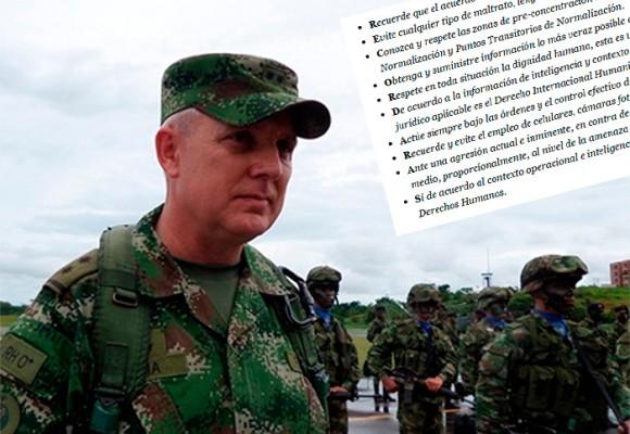 Decálogo de respeto del Ejército para la reconciliación