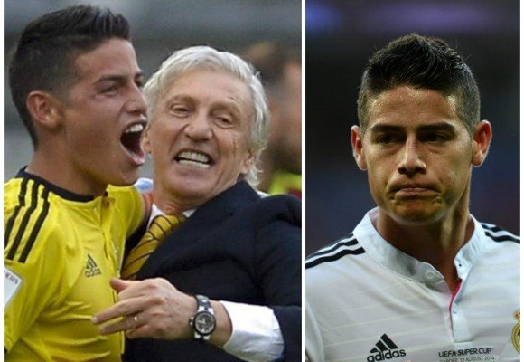 La depresión de James en Madrid es la alegría de la Selección Colombia en Barranquilla