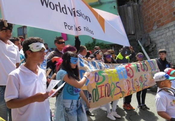 Los niños de la Comuna 1 de Medellín le dicen Sí a la paz