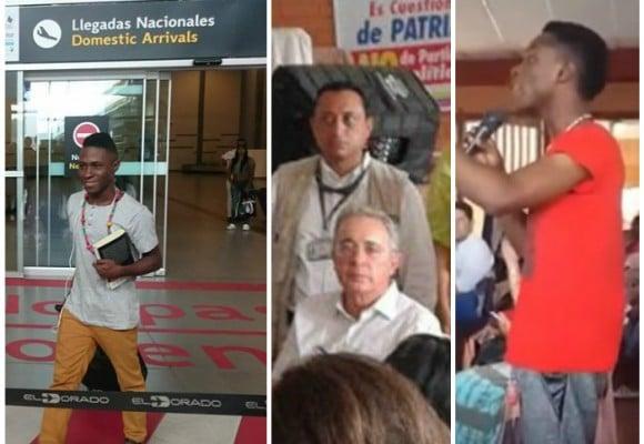 La confrontación al expresidente Uribe, sacó a Leonard Rentería de Buenaventura