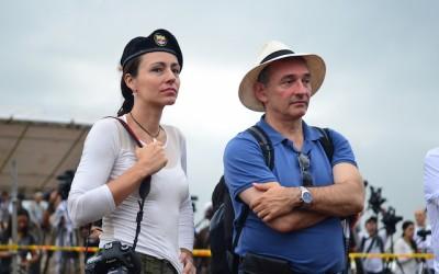 La guerrillera holandesa Tanya y el asesor español de las Farc Enrique Santiago