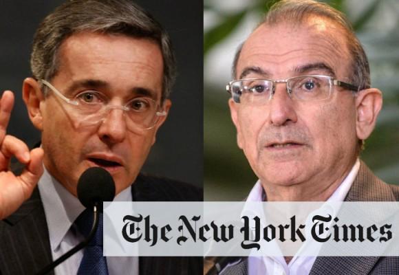 Las dos miradas frente al acuerdo de paz en el New York Times