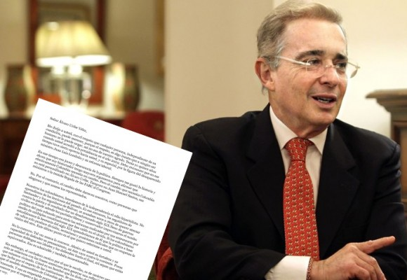 """Señor expresidente Uribe, salve usted a la Patria"""