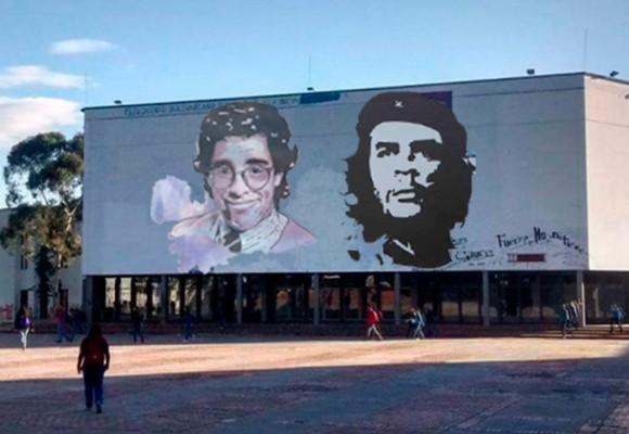 ¿El Che o Jaime Garzón en el mural de la U. Nacional?