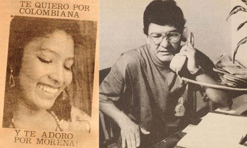 A la izquierda: afiche promocional de Morena.  A la derehca: Iván Roberto Duque, alias 'Ernesto Báez' en 1989.