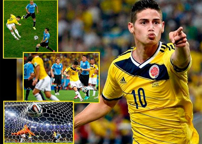 El golazo de James Rodríguez que inmortalizó a Colombia frente a Uruguay