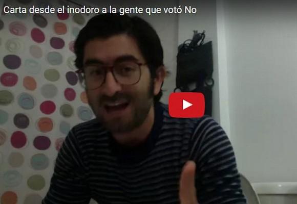 Carta desde el inodoro a la gente que voto NO