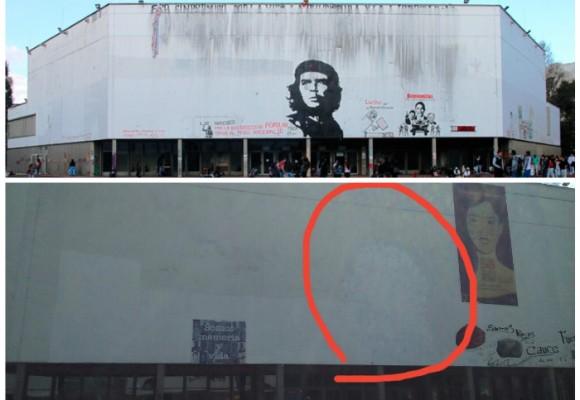 Estudiantes de la Nacional borraron al Che