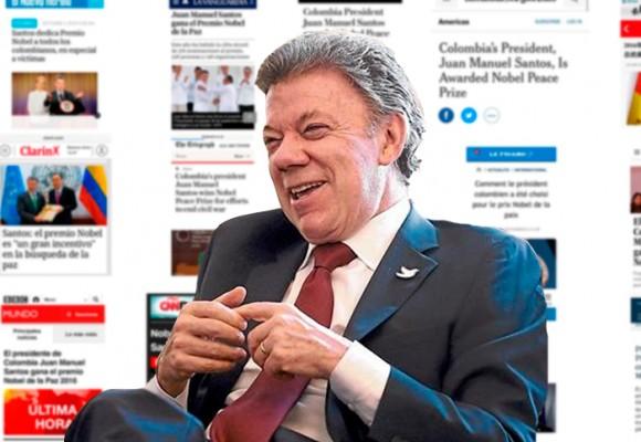 El Nobel de Santos en las portadas del mundo
