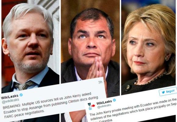 La movida de John Kerry con Rafael Correa para callar a Julian Assange