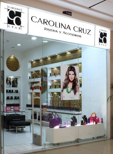 La tienda de Carolina Cruz, ubicada en el C.C. Santafé de Bogotá