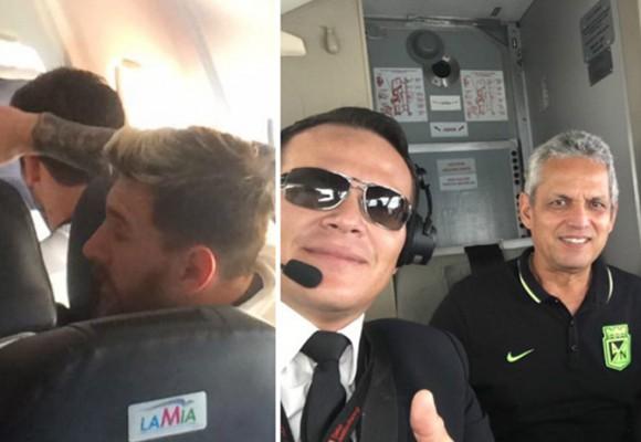Imágenes de Messi y Reinaldo Rueda en el avión del fatal accidente