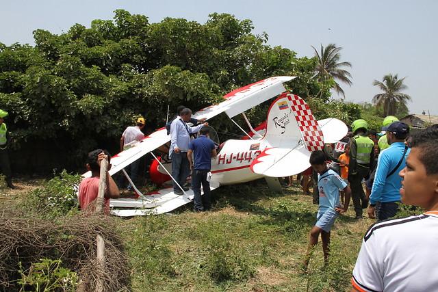 Avión en el cual se accidentó el presidente de Aerosucre en el 2015