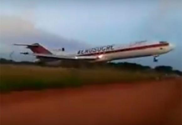 En video: momento en que el Boeing 727 de Aerosucre se estrella en Puerto Carreño