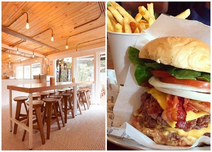 La sencillez de las hamburguesas se extiende al ambiente de sus locales, los cuales buscan que la gente se centre únicamente en disfrutar una buena hamburguesa. Fotos Instagram @HomeBurguers